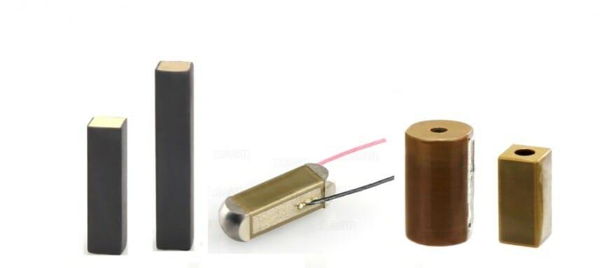 Various piezoelectric stack actuators